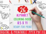 Alphabet Coloring Sheets A-z Pdf 26 Alphabet Coloring Book A Z for Kids