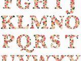 Alphabet Coloring Sheets A-z Pdf Floral Garden Alphabet Letter Graphics