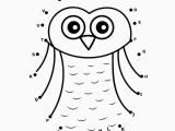 Alphabet Connect the Dots Coloring Pages Connect the Dots Coloring Page New Owl Dot to Dot
