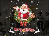 "Amazon Christmas Wall Murals Amazon Dnven Santa Series 32"" W X 32"" H Merry"