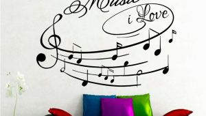 Amazon Wall Stickers and Murals Amazon Na Giant Wall Decals Music I Love Art Design