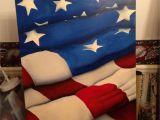 American Flag Wall Mural Flag Painting