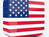 American Flag Wall Mural Lossy Square Icon 3d Usa Flag 3d Png Image with