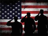 American Flag Wall Mural the Salute 4 Army Rangers Military Art Rustic American