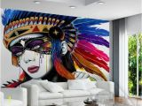 American Indian Wall Murals European Indian Style 3d Abstract Oil Painting Wallpaper