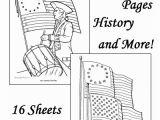 American Revolutionary War Coloring Pages American Flag