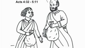 Ananias and Sapphira Coloring Page Elegant Collection Various Ananias and Sapphir