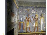 Ancient Egypt Wall Murals Egypt tomb Of Ramses I Mural Painting Of Pharaoh and Ma at Fering Wine to Nefertem