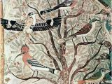 "Ancient Egyptian Wall Murals Egyptian ""birds In An Acacia Tree Wall Painting From tomb Of"