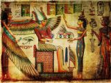 Ancient Egyptian Wall Murals Wallmonkeys Old Egyptian Papyrus Peel and Stick Wall Decals Wm