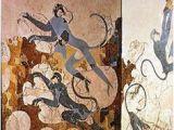Ancient Greek Murals 14 Best Minoan Greek Frescos Akrotiri Images