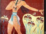 Ancient Greek Murals Priest King Fresco C 1 550 1 450 Bce Knossos…