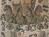"""Ancient Greek Murals Triumph Of Neptune and Amphitrite"""" Mosaic From Ancient Cirta In"""