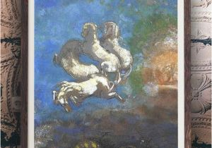 Ancient Greek Wall Murals Odilon Redon Chariot Of Apollo Greek Mythology Painting Horse