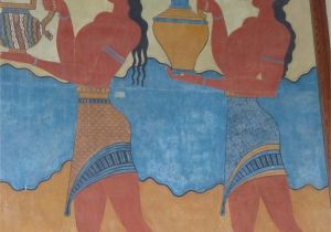 Ancient Greek Wall Murals Wall Painting Knossos Palace Crete Ancient Crete