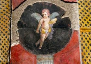 Ancient Roman Murals Fresco Cupid From Pompeii Pompeii