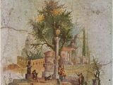 Ancient Rome Wall Murals Second Style Wall Painting From Pompeii