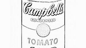 Andy Warhol soup Can Coloring Page andy Warhol Campbells soup Coloring Sheet