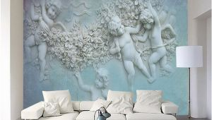 Angel Murals for Walls 3d European Small Angel Cupid Tv Background Wall Custom Wall Murals Silk Silk Wallpaper Papel De Parede Para Quarto Baby Wallpaper Background