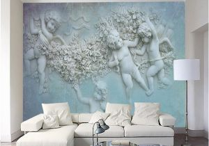 Angel Murals for Walls 3d European Small Angel Cupid Tv Background Wall Custom Wall Murals Silk Silk Wallpaper Papel De Parede Para Quarto Baby Wallpaper Background