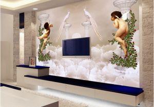 Angel Murals for Walls Custom Wallpaper 3d Wall Murals European Style Little Angel Heaven for Background Embossed Mural Wall Paper Hd Wallpaper Background Hd