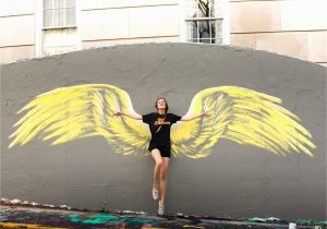 Angel Wings Wall Mural Los Angeles Beautiful Wing Mural Done by Artist Lexi Blaes