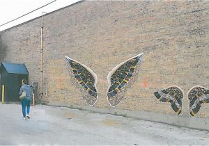 Angel Wings Wall Mural Los Angeles Crown Point Art Students Pitch Angel Wings for Downtown