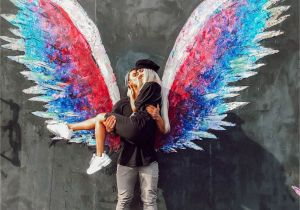 Angel Wings Wall Mural Los Angeles these Two Couplegoals Angel Wings In La Jb & Autumn