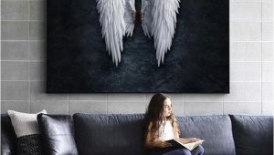 Angel Wings Wall Murals Angel Wings with Frame Option