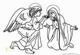 Angels Announce Jesus Birth Coloring Pages Angel Gabriel Appears to Mary