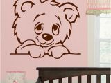 Animal Murals for Nursery D322 Large Nursery Baby Teddy Bear Wall Mural Giant Transfer Art