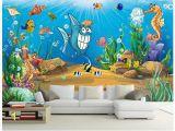 Animal Wall Murals Wallpaper Us $12 21 Off 3d Wall Murals Wallpaper Custom Picture Mural Beautiful Cartoon Mural Submarine World Children Room Tv Backdrop Wall Home Decor In