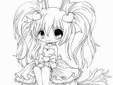 Anime Coloring Pages Easy Cute Chibi Anime Bunny Girl Coloring Page