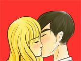 Anime Kissing Coloring Pages How to Draw People Kissing with Wikihow