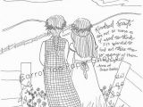 Anne Of Green Gables Coloring Pages Anne Of Green Gables Coloring Page Adult Coloring Literary