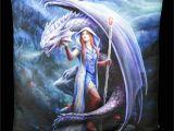 Anne Stokes Wall Murals Cushion Dragon Mage