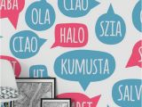Another Word for Wall Mural Ciao Wall Mural Typography Wall Murals In 2019