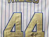 Anthony Rizzo Coloring Pages Anthony Rizzo Chicago Cubs Signed Autographed Champions Gold