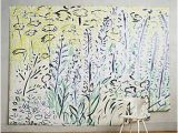 Anthropologie Wall Mural Petaled Meadow Mural Interior Decorating