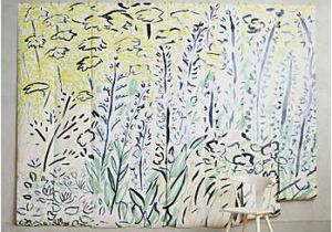 Anthropologie Wall Mural Petaled Meadow Mural Interior Decorating