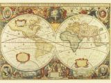 Antique Map Wall Mural Antique World Map Wall Mural