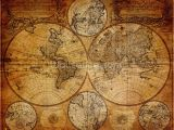 Antique Map Wall Mural Old Globe Map 1746 In 2020