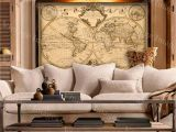 Antique World Map Wall Mural 1720 Old World Map World Map Wall Art Historic Map Antique Style