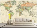 Antique World Map Wall Mural 54 Best World Map Mural Images