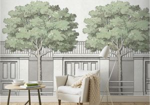 Architectural Wall Murals This Wallpaper Mural Design is Inspired by An Architectural Drawing