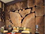 Architectural Wallpaper Murals Custom Wall Murals Woods Grain Growth Rings European Retro Painting