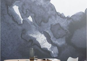 Architectural Wallpaper Murals Deep Blue Waves Watercolour Wall Mural In 2018