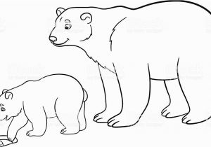 Arctic Animals Coloring Pages Coloring Pages Mother Polar Bear with Her Baby Stock Vektor Art Und