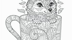 Arctic Animals for Kids Coloring Pages Fox Coloring Pages Vector Fox In Cup Adult Coloring Page