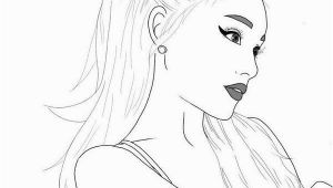 Ariana Grande Coloring Page Ariana Grande Outline